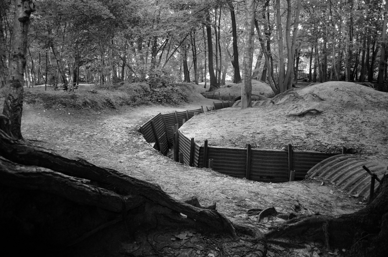 Trenches at Hill 62 Sanctuary Wood Museum, Belgium