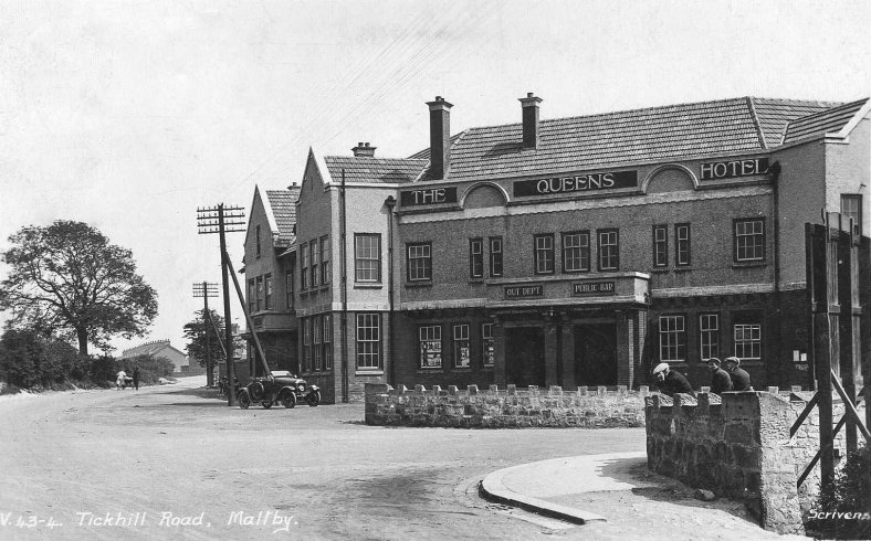 Queens Hotel Maltby Rotherham South Yorkshire 1938
