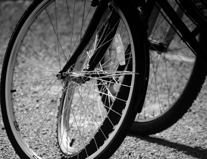 Black and White Photography: Bicycle Wheels