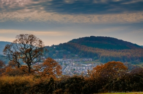 Landscape photography of Pontypool in Autumn.