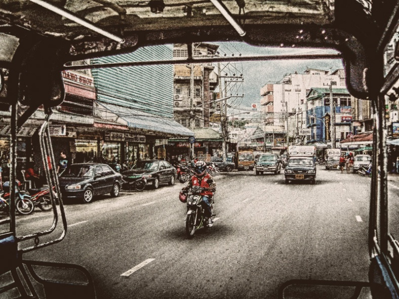 Pattaya, Thailand | From the back of a tuk tuk.