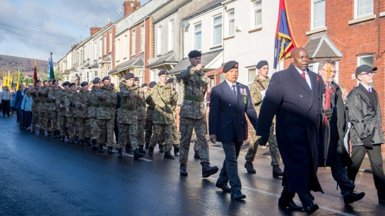Cwmbran Remembrance Parade
